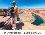 Tourist On Horseshoe Bend View...