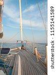 sail boat in open sea. luxury... | Shutterstock . vector #1155141589