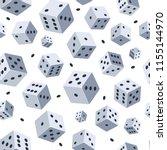 dice vector pattern. seamless... | Shutterstock .eps vector #1155144970