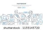 partnership   modern line... | Shutterstock .eps vector #1155145720