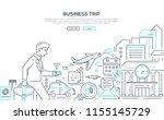business trip   modern line... | Shutterstock .eps vector #1155145729