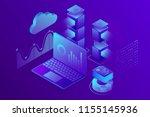 concept business analytics ... | Shutterstock .eps vector #1155145936