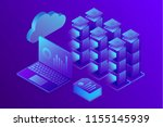 concept business analytics ... | Shutterstock .eps vector #1155145939