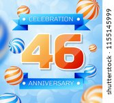 realistic forty six years... | Shutterstock .eps vector #1155145999