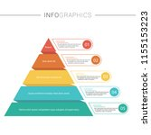 pyramid infographics template... | Shutterstock .eps vector #1155153223