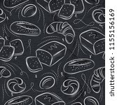 seamless patterns with... | Shutterstock .eps vector #1155156169