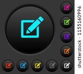editing box with pencil dark... | Shutterstock .eps vector #1155160996