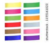 collection of colorful sticky... | Shutterstock .eps vector #1155161023