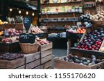 variety of fresh fruit and... | Shutterstock . vector #1155170620