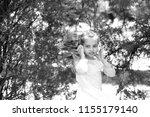 small child enjoy music in...   Shutterstock . vector #1155179140
