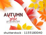 autumn sale poster with... | Shutterstock .eps vector #1155180040