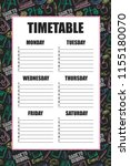timetable for school's lessons... | Shutterstock .eps vector #1155180070