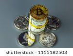 coins of different crypto...   Shutterstock . vector #1155182503