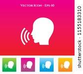 speak icon in colored square... | Shutterstock .eps vector #1155183310