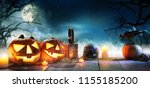 scary horror background with... | Shutterstock . vector #1155185200