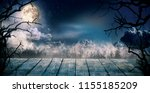 scary horror background with... | Shutterstock . vector #1155185209