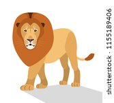 big lion isolated on white  the ... | Shutterstock .eps vector #1155189406
