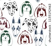 vector naive hand drawn breed... | Shutterstock .eps vector #1155192463