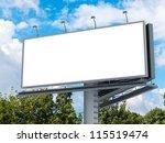 billboard with empty screen ... | Shutterstock . vector #115519474