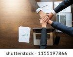 business man group ban storm   Shutterstock . vector #1155197866