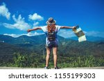 asian woman travel relax in the ...   Shutterstock . vector #1155199303