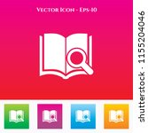 book search icon in colored... | Shutterstock .eps vector #1155204046