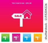 house for sale icon in colored... | Shutterstock .eps vector #1155204226