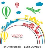 travel and vacation banner ... | Shutterstock .eps vector #1155209896