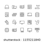 simple set of computer... | Shutterstock .eps vector #1155211840