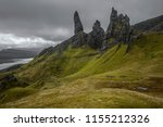 the famous old man of storr on...   Shutterstock . vector #1155212326