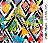 african batik tropical seamless ... | Shutterstock .eps vector #1155223093