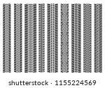 tire tracks brushes. bike or... | Shutterstock .eps vector #1155224569