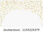 golden serpentine garland.... | Shutterstock .eps vector #1155225379