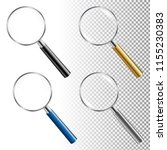 magnifying glass set with... | Shutterstock .eps vector #1155230383
