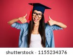 the end of university. happy... | Shutterstock . vector #1155234376