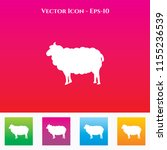sheep icon in colored square... | Shutterstock .eps vector #1155236539