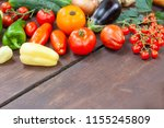 colourful variety of fresh home ... | Shutterstock . vector #1155245809