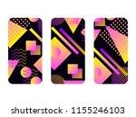 phone case mockup. memphis... | Shutterstock .eps vector #1155246103
