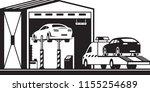 roadside assistance truck...   Shutterstock .eps vector #1155254689