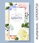 vector vintage floral frame... | Shutterstock .eps vector #1155254710