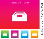drawer icon in colored square... | Shutterstock .eps vector #1155260293