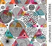 template seamless geometric... | Shutterstock .eps vector #1155260866
