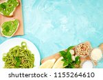 italian pasta spaghetti with... | Shutterstock . vector #1155264610