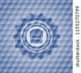 popcorn icon inside blue emblem ...   Shutterstock .eps vector #1155270799