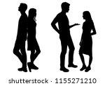 vector silhouettes men and... | Shutterstock .eps vector #1155271210