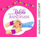 raksha bandhan celebration in... | Shutterstock .eps vector #1155271639