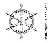 steering wheel in vintage... | Shutterstock .eps vector #1155277570