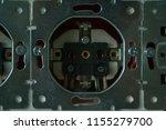 disassembled power socket.... | Shutterstock . vector #1155279700