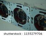 disassembled power socket.... | Shutterstock . vector #1155279706