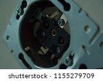 disassembled power socket.... | Shutterstock . vector #1155279709